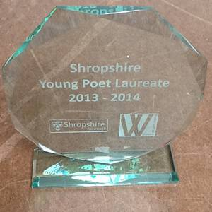 Shropshire Young Poet Laureate trophy